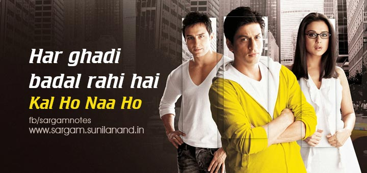 Har Ghadi Badal Rahi From Kal Ho Naa Ho Full Piano Song Notes